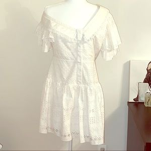 Self - Portrait White Lace dress in size 10